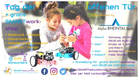 SMARTopenday + gratis SMARTworkshop 👩🏻👱🏼👦🏾👧🏼